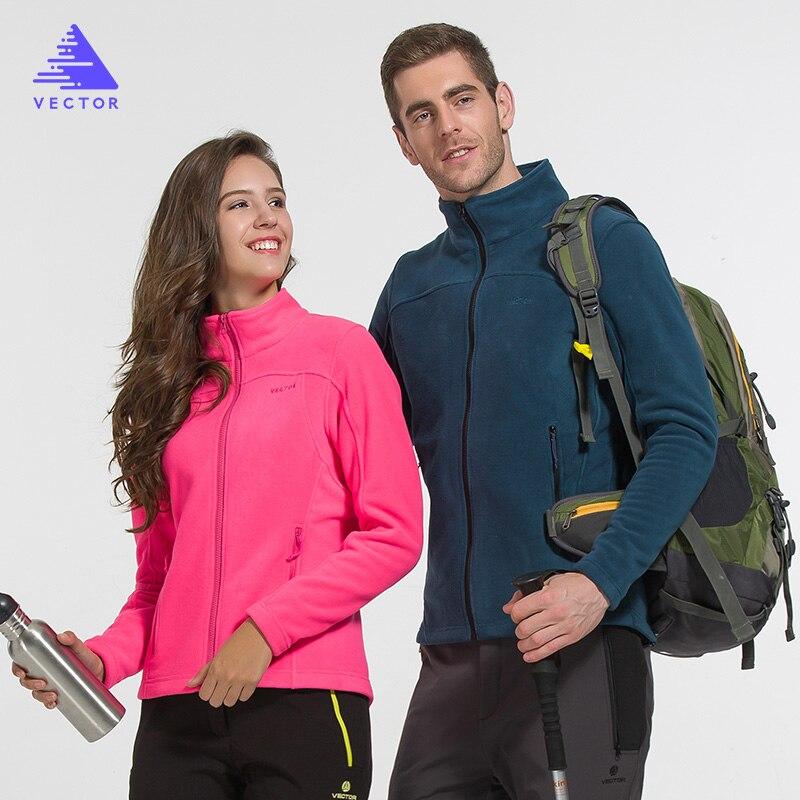 VECTOR Men Women Fleece Jacket Full-Zip Outdoor Jacket Men`s Soft Fleece Jackets Camping Hiking Tops ZRY90014 men s knitted jacket