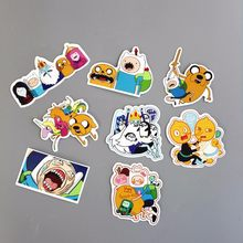 8Pcs/Lot American Drama 2019 Adventure Time Funny Sticker Decal For Car Laptop Bicycle Motorcycle Notebook Waterproof Stickers(China)
