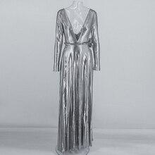 Plunge Long Sleeve Belted Dresses