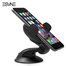 ESVNE Universal mobile phone Car Holder Dashboard Windshield 360 degree car phone holder for iphone 5 6 7 support cellular phone
