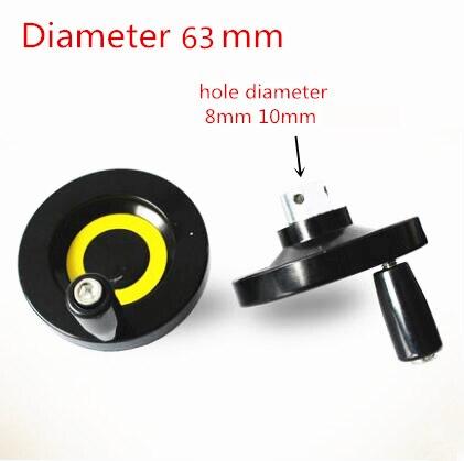 Горячая Распродажа CNC 3d принтер T8 свинцовый винт T6 трапециевидный свинцовый винт диаметр отверстия 8 мм 6 мм Диаметр ручного колеса 63 мм