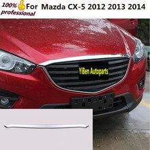 Автомобиль гарнир крышка ABS Chrome спереди двигатель машины решетка Гуд stick крышкой отделкой лампы 1 шт. для Mazda CX-5 CX5 2012 2013 2014