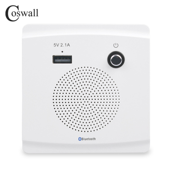 COSWALL Wall Embedded Wireless Bluetooth Speaker With USB Charger Port For Mobile 5V 2.1A Power Output LED Indicator - discount item  29% OFF Electrical Equipment & Supplies