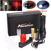 Alonefire G700 M CREE XM L T6 3800LM Zoomable LED Flashlight Signal Light Emergency Hunt