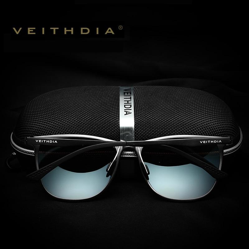 VEITHDIA Retro Aluminium Magnesium Brand Lelaki Cermin mata hitam - Aksesori pakaian - Foto 2