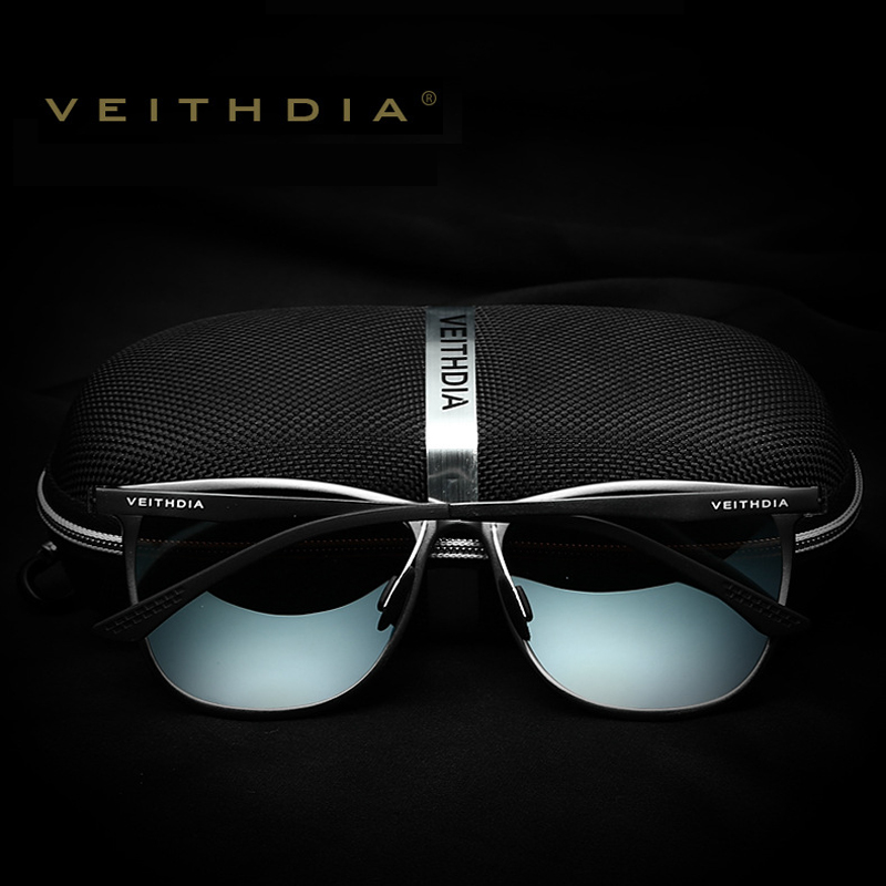 Veithdia retro aluminium magnesium marke männer sonnenbrille - Bekleidungszubehör - Foto 2