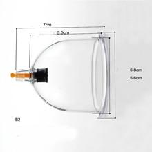 Вакуумные банки для вакуумного массажа, 10 шт., B1/B2/B3/B4/B6, Набор чашек смешанного размера для вакуумного массажа