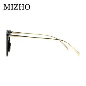 Image 4 - MIZHO marca futuro Metal Vintage gafas de sol polarizadas mujer Ojo de gato blanco UV400 gafas pequeñas mujer gafas de sol claro Visual