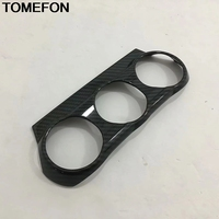 TOMEFON Interior For Mazda CX 3 CX3 2015 2018 Front Dashboard Air Conditioner AC Control Switch Panel Cover Adjust Frame Trim