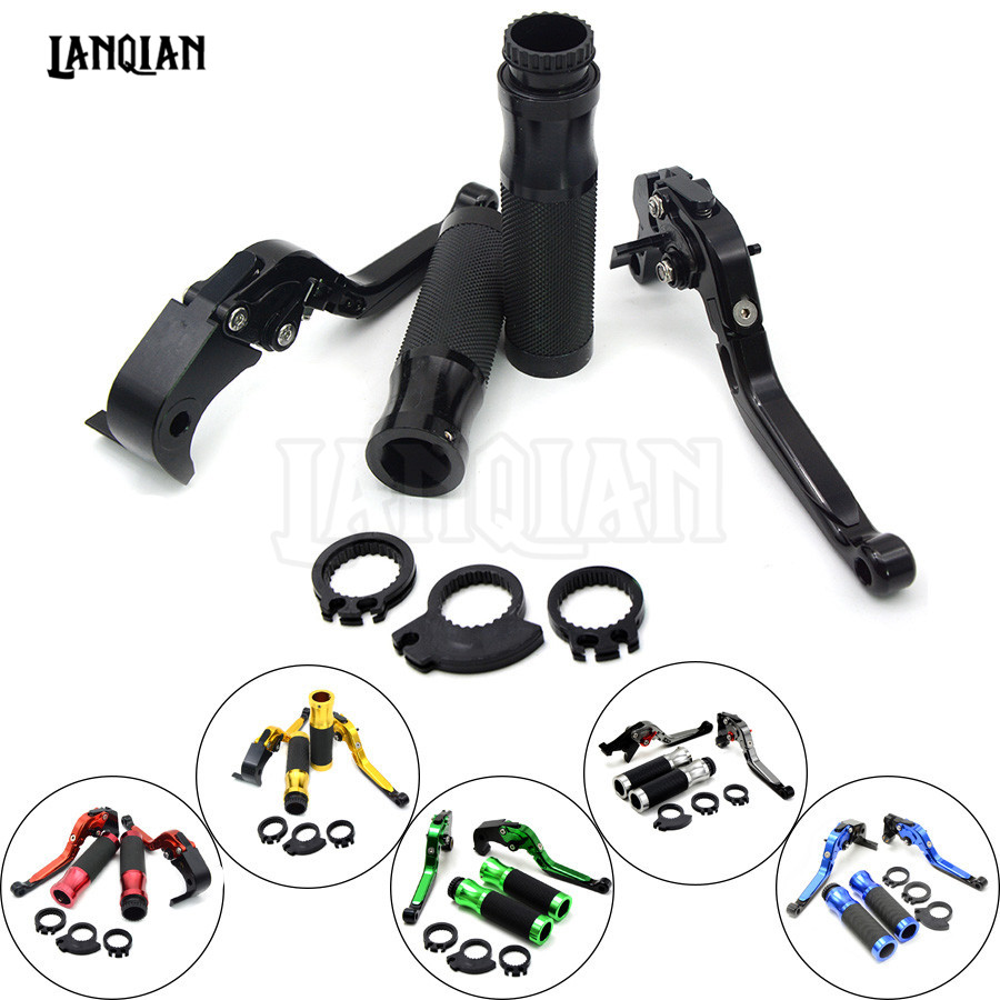 Motorcycle Brake Clutch Levers & handlebar handle bar For Kawasaki ZZR600 ZZR 600 2005 2006 2007 2008 2009 ZX10R ZX 10R 2004 05 motorcycle adjustable brake clutch levers 7 8handlebar hand grips handlebar for kawasaki z1000 2003 2004 2005 2006