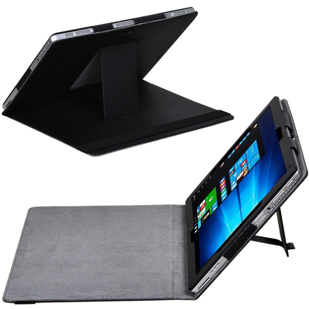 Solid Litchi Print Flip Stand PU Leather Case Cover For Lenovo MIIX 520/MIIX 510/ MIIX 5PLUS Tablets&e-Books Shell Case