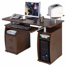 Goplus Computer Pc Desk Work Station Office Home Monitor Printer Shelf Furniture Modern With 2