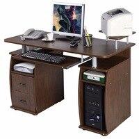 Goplus Computer PC Desk Work Station Office Home Monitor Printer Shelf Furniture Modern Office Desk With