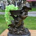 Бронзовая статуя фигурка украшения назад ребенок ремесла украшения бизнес сельской молодежи, новоселье подарок