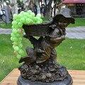 La figura estatua de bronce artesanías adornos infantil de nuevo negocio de la joyería de regalo de inauguración de la juventud rural