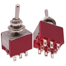 GOOD QUALITY 1 PCS 3PDT Buttons Switch Effect Switches MTS-302R ON / ON 2A 250VAC/5A 120VAC