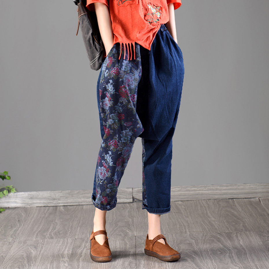 Women Jeans Denim Pants Cross-pants Trousers Joggers Big Loose Oversized Hip Hop Baggy Casual Fashion Retro Vintage AZ17212217(China)