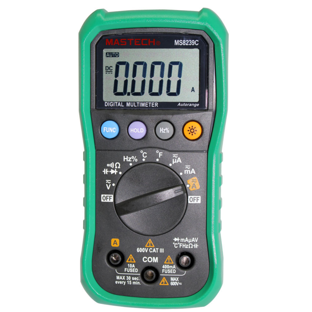 MASTECH MS8239C Digital Auto Range Multimeter With Temperture Thermocouple my68 handheld auto range digital multimeter dmm w capacitance frequency