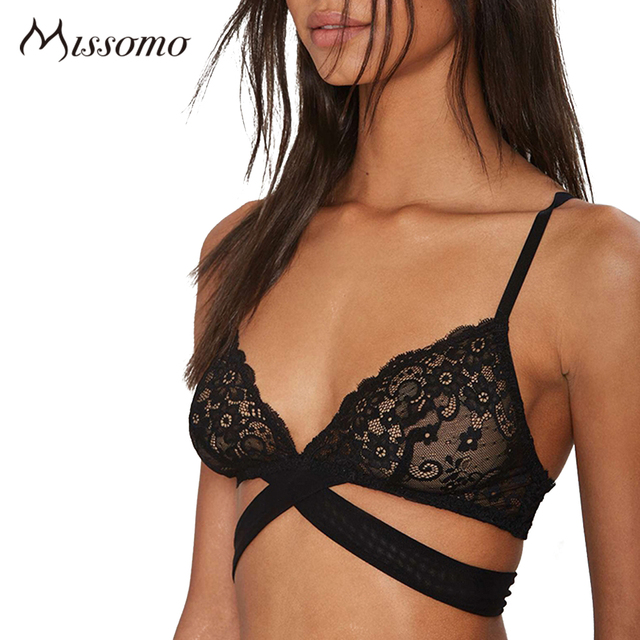 Missomo 2017 Новые Моды для Женщин Лето Hot Sexy Мягкий Крест Бюстгальтер Lce Жаккард Push Up Bralette