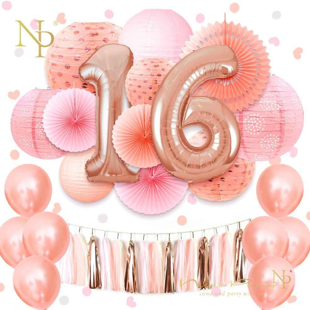 Beste Nicro Sweet 16 18 21th Happy Birthday Party Decoration 37 pcs/set KO-64
