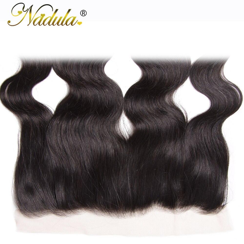 Nadula Hair  Body Wave Lace Frontal 13*4 Swice Lace 10-20inch  Hair 100%   Ship Free 5