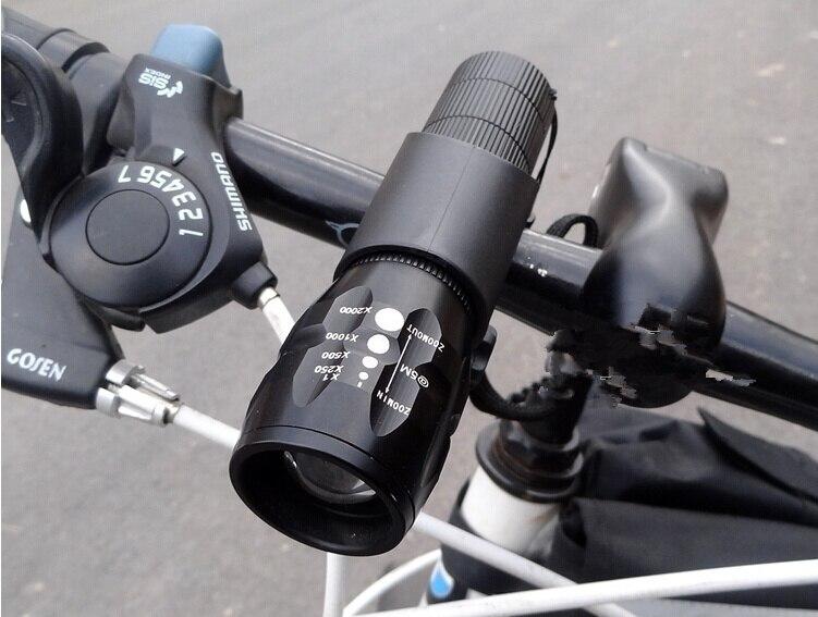 Nueva Luz de La Bicicleta 7 Vatios 2000 Lúmenes 3 DEL Modo DEL CREE Q5 LED cicli
