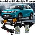 2X T20 WY21W 7440 LED Car Turnlight For Suzuki Grand vitara 2006-2014 DRL Daytime running light &Front Turn Signals All In One