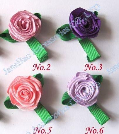 50 шт., бант для волос для девочек, заколки для волос с цветком розы, разные цвета, скульптура, клиппи, персонажи, бант для волос на День святого Валентина