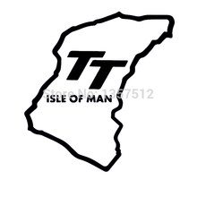 "HotMeiNi 12.2x13cm ""Isle Of Man TT"" Funny JDM DUB Car Rear Windshield Car Sticker For Truck Door Vinyl Black/Sliver(China)"