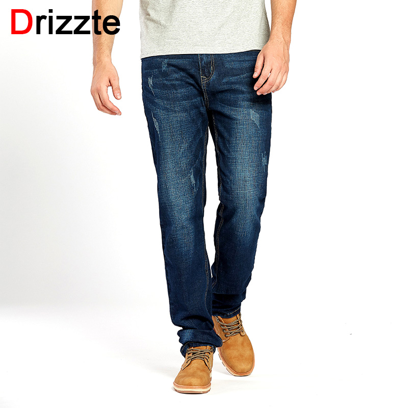 Drizzte Brand High Quality Jeans Mens Fashion Stretch Blue Denim Jeans Trousers Autumn Pants Size 33 34 35 36 38 40 42 drizzte brand men stretch denim slim jeans black blue fashion trendy trousers pants size 33 34 35 36 38 40 42 for men s jean