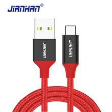 USB Type C Cable 3A Fast Charger JianHan USB C Wire USB 2.0 Charging Strong Braided for Xiaomi Samsugn 5X/6P ZUK LG High Quality
