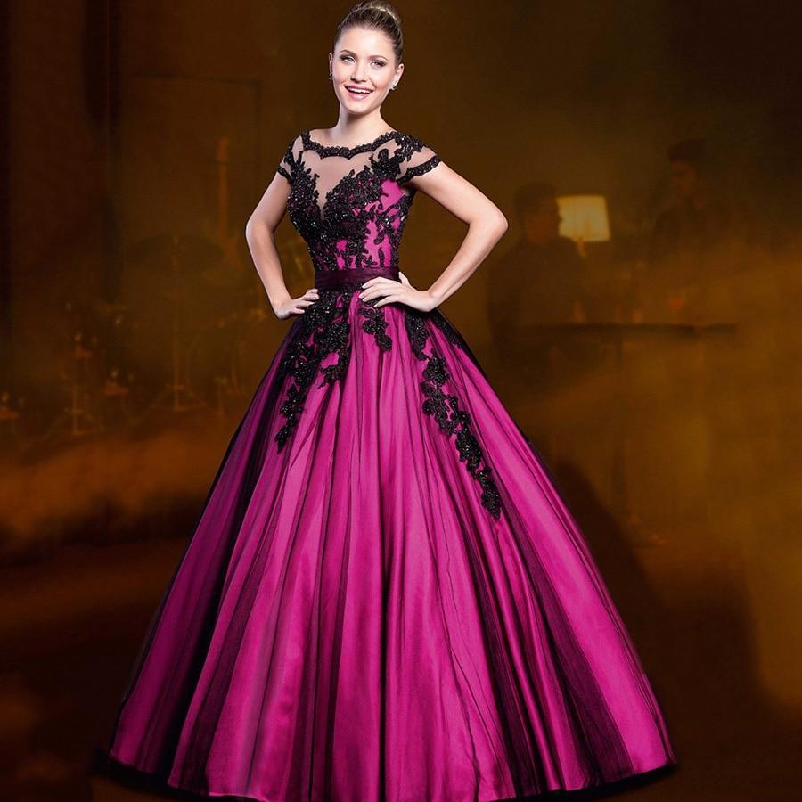 Bonito Vestidos De Novia Gótico Negro Y Rojo Colección de Imágenes ...
