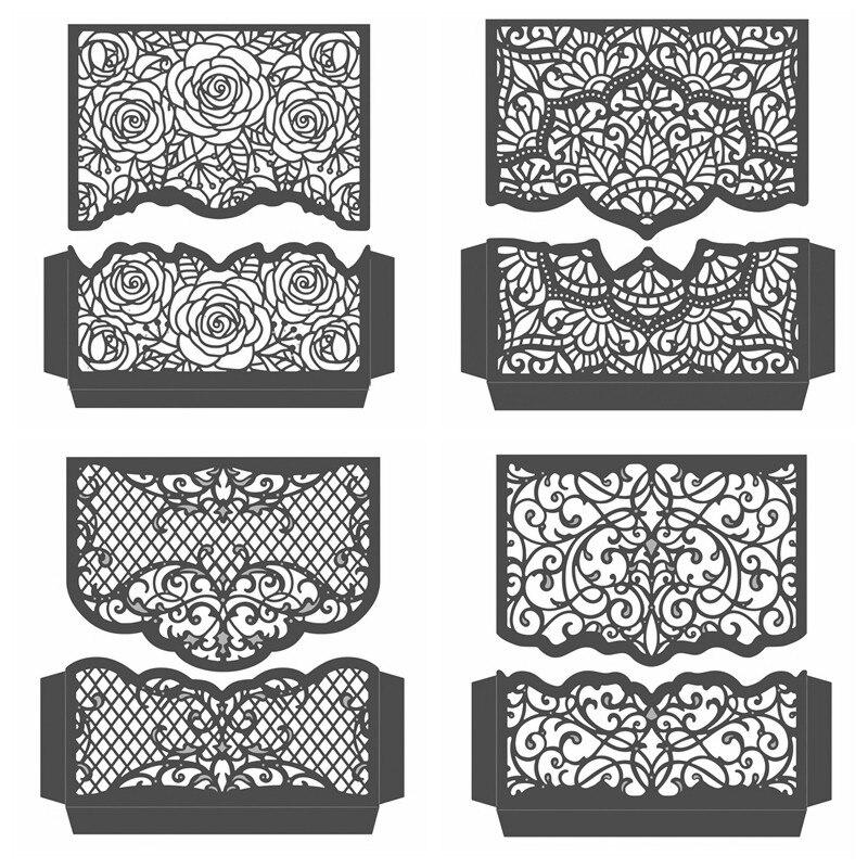 Split Spitze Rahmen Metall Schneiden Stirbt Schablonen Für DIY Scrapbooking Dekoration Präge Einladung Karte Handwerk Gestanzte