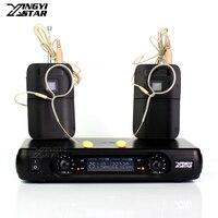 Professional Single Earhook Headset Wireless Microphone System Digital Dual Channels Cordless Receiver Beltpack Transmitter BLX1