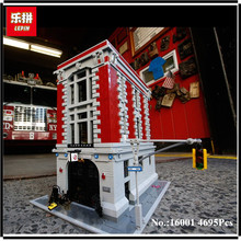 IN STOCK LEPIN 16001 4695Pcs Ghostbusters Firehouse Headquarters Model Building Kits Model set Compatible With 75827
