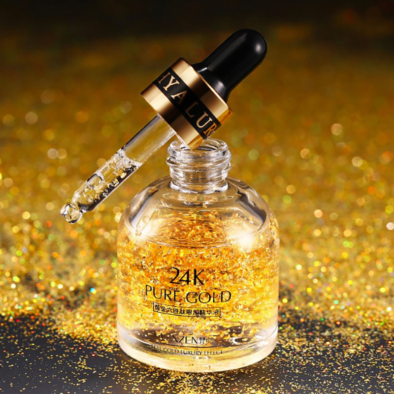 24K Gold Six Peptide Eye Serum Anti-Wrinkle Remover Dark Circles Eye Cream Against Puffiness Anti Aging Ageless Instantly