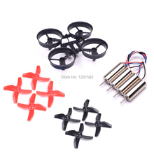 Mini RC Quadcopter Frame + 8pcs Propellers + 4pcs 0615 CW CCW Motor for JJRC H36 for Eachine E010 Blade Inductrix Tiny Whoop(China)