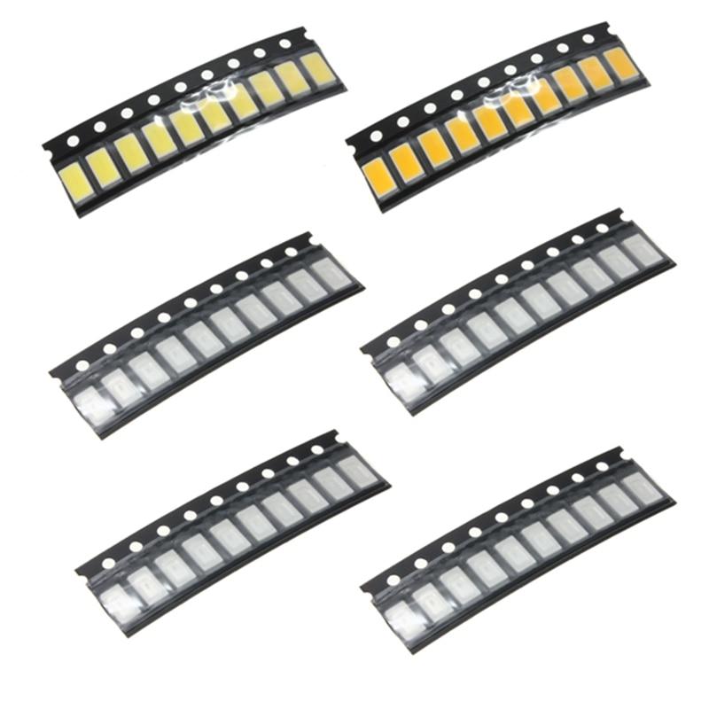 10pcs/lot 0.5W LED Light Bulb SMD SMT Light COB Chips RGB Ultra Bright Car Boat Bike DIY Lighting DC 3.0-3.2V 10mA