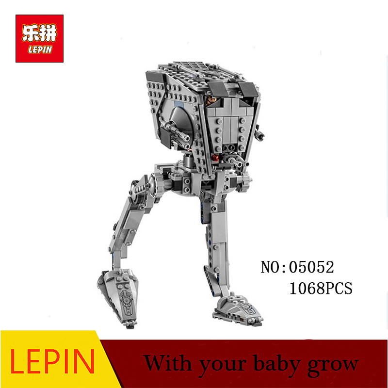 цена на New Lepin 05052 Star Series 1068pcs War Out of print AT Model ST Set Building Blocks Bricks Model Boys Toys Children Gifts 75153