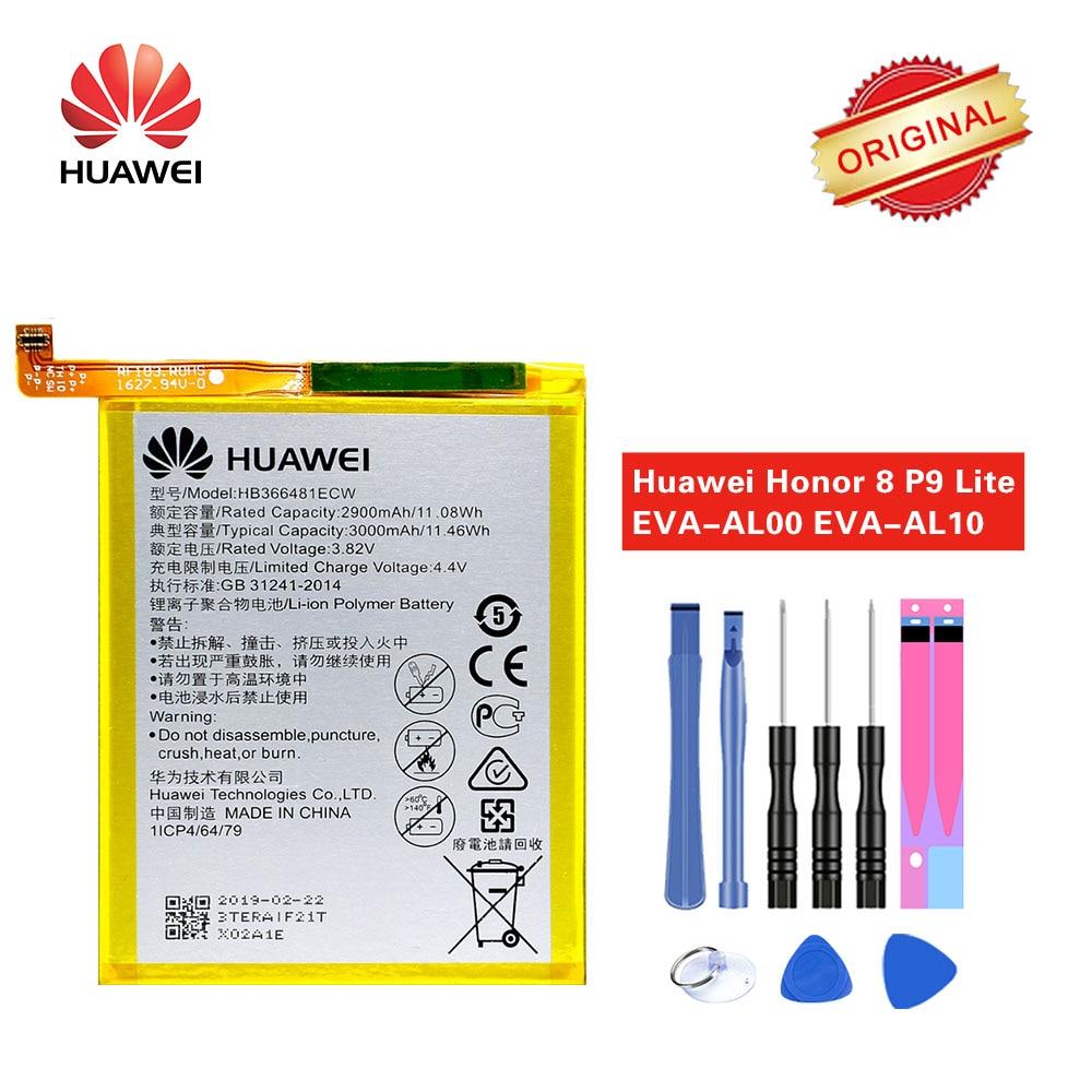 Hua Wei HB366481ECW Bateria Original para Huawei P9/Honor 8/P9 Lite/G9/Honor 8 lite /P10 lite/y6 II/P8 lite 2017/P20 Lite/Honor 5C