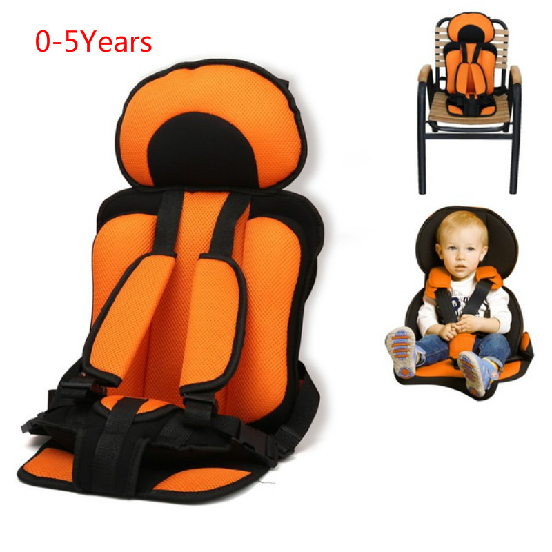 0-5 Year Baby Safe Chair Seat Mat Portable Baby Toddler Simple Car Seats Baby Chair Thickening Sponge Kids Stroller Seat Pad(China)