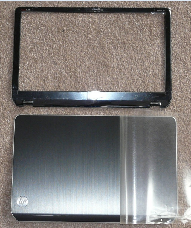 New FOR HP Pavilion Envy M6 Series Cover Lcd Black with Silver Trim AP0R1000140 LCD TOP COVER 686895-001