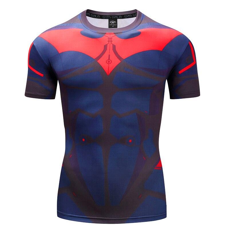 Men's T-shirt Fitness Tops 3D Batman,Spiderman,Superman,Captain America,Hulk,Ironman,Avenger,Punisher work out Fitness T-shirt