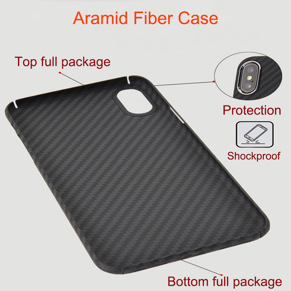 Image 3 - 0.7mm Ultra Thin Luxury Carbon Fiber Pattern For iPhone XR XS XS MAX Case Cover Full Protective Aramid Fiber Case For iPhone X-in Fitted Cases from Cellphones & Telecommunications