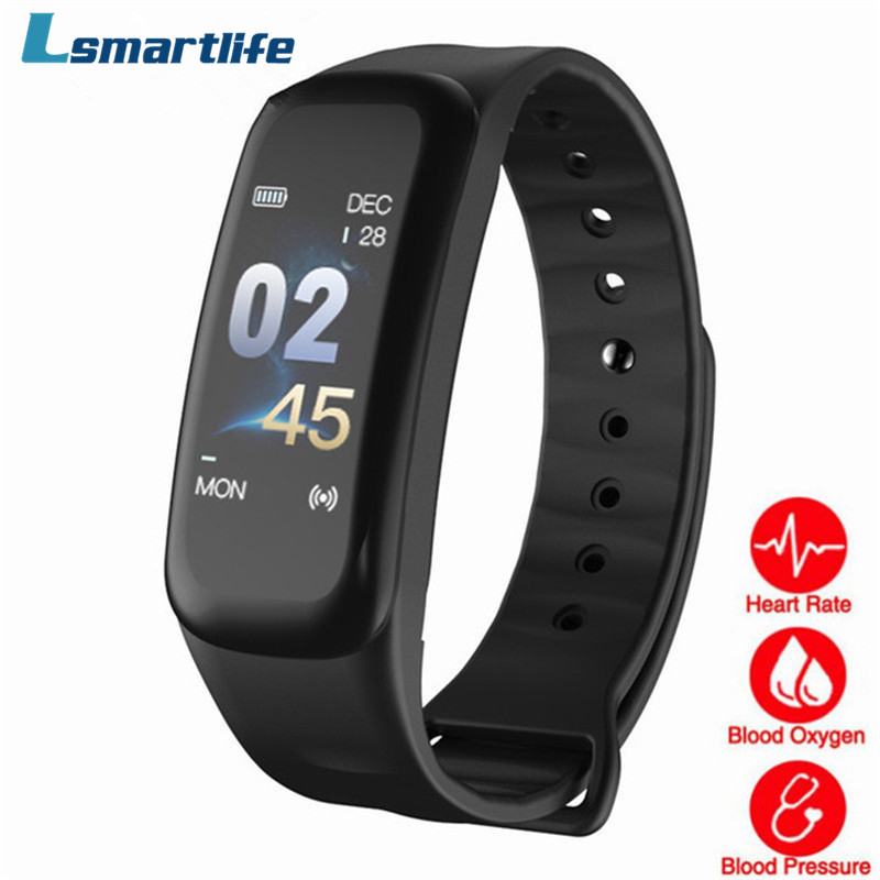 C1s Smart Bracelet C1 Plus Color Screen Fitness Tracker Blood Pressure Heart Rate Sleep Monitor Wristband For Android Ios Smart Wristbands Aliexpress