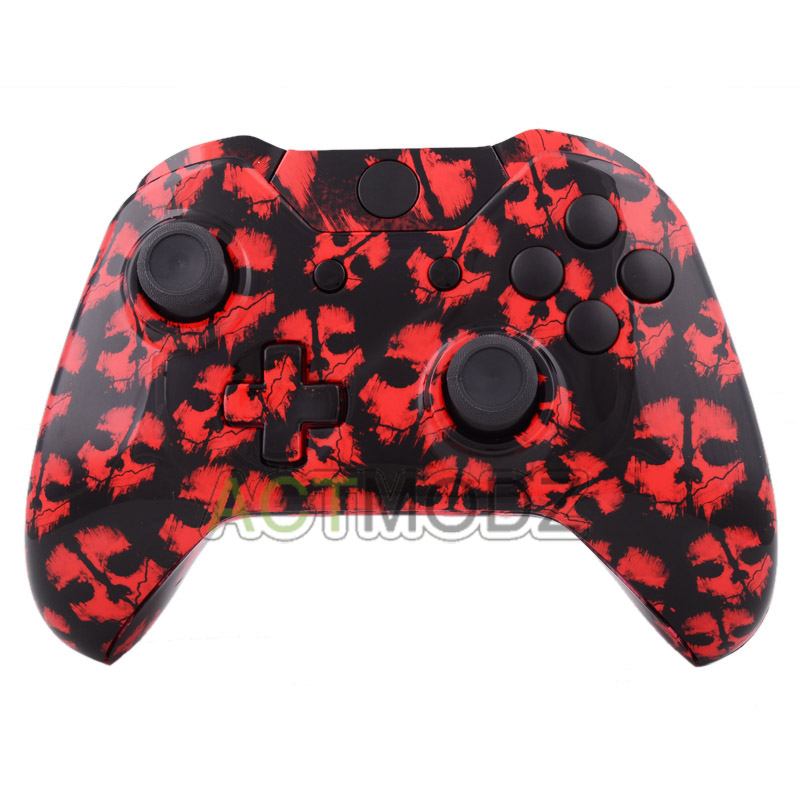 Call of Duty Red Ghost Patterned Full Shell Case Buttons for Xbox One Controller
