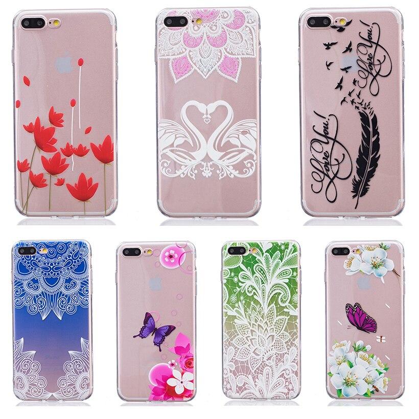 Teléfono case cover para apple iphone 7 plus iphone7 plus Pro 5.5 pulgadas de Si