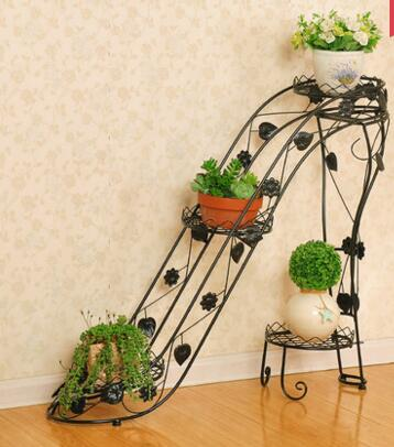 90cm Size 4 Pots European Balcony And Indoor Outdoor Flower Pot Holder Garden Stand Iron Pergolas In Planters From Home