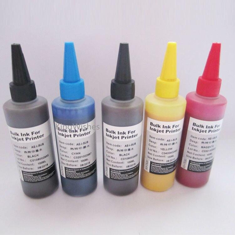 ФОТО 100ML x 5PCS T2601 T2611 T2612 T2613 T2614 Sublimation Ink For Epson XP-600 XP-605 XP-700 XP-800 XP-610 XP-615 XP-710 XP-810