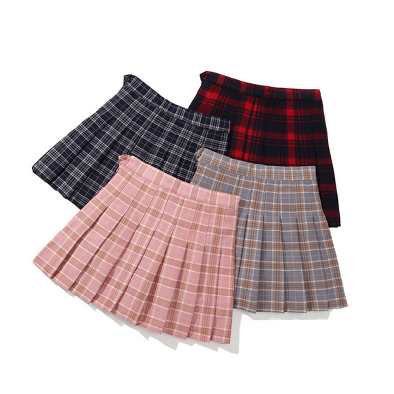 Girls Pleated Skirts Kids School Skirt Spring Autumn Solid Color Tutu Skirt Toddler Girl Dance Party Skirts Children Clothing solid color empire waist mermaid skirt